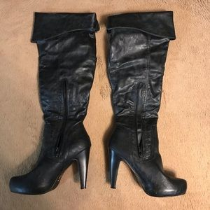 Guess Knee High, High Heel Boots